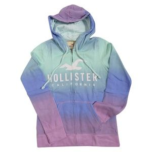 HOLLISTER Women`s Tie-Dye Hoodie with Logo Graphic